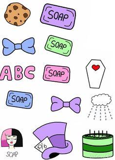 Melanie martinez title random sticker packets