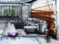 interior design rendering