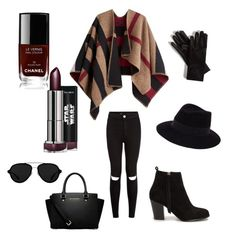 """""""Untitled #102"""" by dr-azzko ❤ liked on Polyvore featuring MICHAEL Michael Kors, 3.1 Phillip Lim, Burberry, Nly Shoes, Maison Michel and Chanel"""