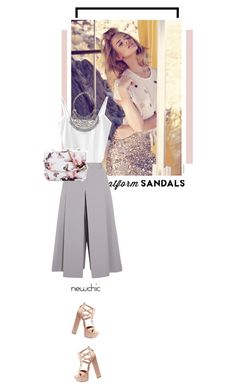 """Newchic"" by s-thinks ❤ liked on Polyvore featuring Vilshenko, Aquazzura and platforms"