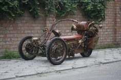 Steampunk Tendencies | Steampunk Tricycle by pofigist #Design #Steampunk
