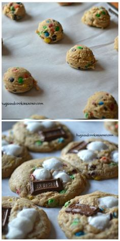 M and M S'mores Cookies