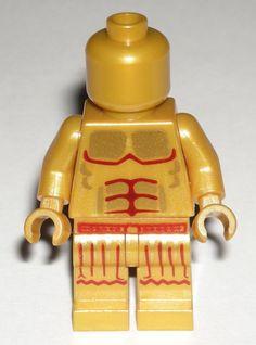 LEGO GOLD ROMAN STATUE MINIFIGURE Plain Head Muscle Chest Torso Skirt Legs #LEGO Head Muscles, Lego Custom Minifigures, Lego Group, Lego Building, Roman, Statue, Legs, Skirt, Gold