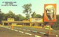 Used to go to this A&W in West Milford NJ/Greenwood Lake NJ. A&W Root Beer Drive in Restaurant Car Hop Service Photograph Jersey Girl, New Jersey, West Milford, Greenwood Lake, Fair Lawn, A&w Root Beer, Moving To Florida, Bergen County, Lake Photos