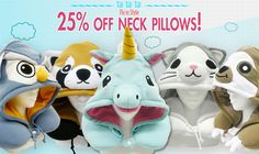 Starting today through Christmas Eve, we're taking 25% off our Kigurumi Neck Pillows at:  http://kigurumi-shop.com/kigurumi-neck-pillows.aspx   Happy Holidays!! :D