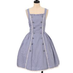 Worldwide shipping available ♪ Innocent World ☆ ·. . · ° ☆ stripe double-button jumper skirt https://www.wunderwelt.jp/products/w-17114 IOS application ☆ Alice Holic ☆ release Japanese: https://aliceholic.com/ English: http://en.aliceholic.com/