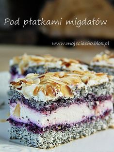 Under the petals of almonds Polish Desserts, Polish Recipes, Candy Recipes, Sweet Recipes, Baking Recipes, Dessert Recipes, Unique Desserts, Just Desserts, Delicious Desserts