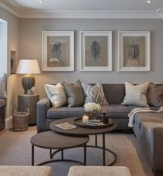 Contemporary living room colors modern grey and tan living room interior design living room color scheme . Earthy Living Room, Elegant Living Room, Living Room On A Budget, Cozy Living Rooms, Living Room Modern, Apartment Living, Interior Design Living Room, Modern Interior, Beige And Grey Living Room