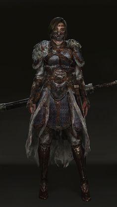 Art by Ningbo Jiang Fantasy Character Design, Character Design Inspiration, Character Concept, Character Art, Dnd Characters, Fantasy Characters, Female Characters, Female Armor, Female Knight