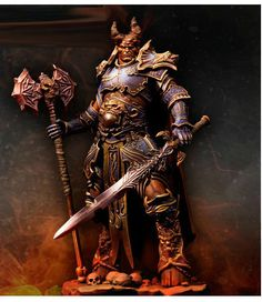 75mm lord of chaos,unpainted unassembled mini toy model miniature figure kit #Unbranded