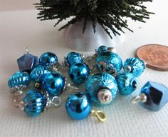 Dollhouse Miniature Christmas Tree Ornaments. $5.00, via Etsy.