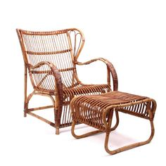 Viggo Boesen, Pair of Bamboo Lounge Chairs 2