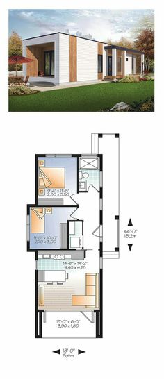 find this pin and more on planos de casas - Modern Tiny House Plans