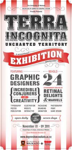 Terra Incognita by Saranna Drury #typography #poster