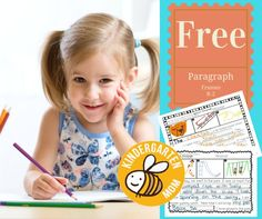 Teach Kindergartners how to start writing paragraphs using these fun writing prompts! :: www.thriftyhomeschoolers.com