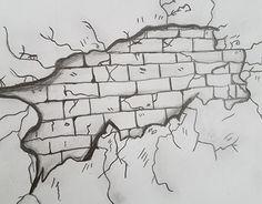Working on Illusion brick walls Graffiti Girl, Graffiti Doodles, Graffiti Drawing, Graffiti Painting, Graffiti Alphabet, Grafitti Letters, Native Drawings, Dark Art Drawings, Pencil Art Drawings