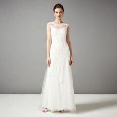 Phase Eight Ivory josefina wedding dress- at Debenhams.com