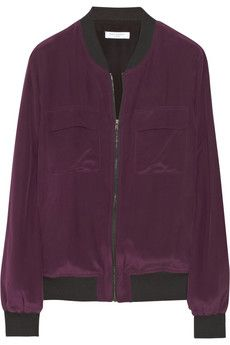 Equipment Abbot washed-silk bomber jacket | THE OUTNET