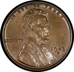 The world's most expensive penny - This Lincoln cent was struck in the wrong metal at the Denver Mint in 1943. Just 40 of the coins are known to exist. In 2010, a dealer in New Jersey sold his 1943 penny for a staggering $1,700,000.00 (Most 1943 pennies are steel-gray)