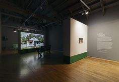 Clarissa Tossin, Streamlined: Belterra, Amazônia / Alberta, Michigan, Museum of Latin American Art installation view, January 16 – April 26, 2015. Photography by Brica Wilcox. April 26, January, Art Installation, Contemporary Artists, American Art, Michigan, Art Gallery, Museum, Architecture