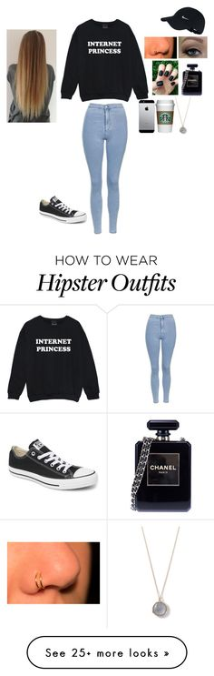 """Untitled #217"" by babsyorcrush on Polyvore featuring Topshop, Converse, Chanel, NIKE and Ippolita"
