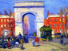 The Athenaeum - Washington Square (William James Glackens - )