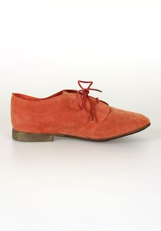 Coral Oxfords.  Perfect color for sliding Summer into Fall