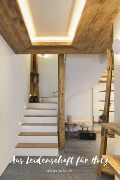 Wooden Stairs, Loft, Mirror, Bed, Home Decor, Engineered Wood, Wooden Ladders, Wooden Staircases, Decoration Home