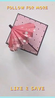 Paper Folding Crafts, Cool Paper Crafts, Paper Crafts Origami, Diy Crafts Hacks, Oragami, Diy Crafts For Gifts, Origami Art, Diy Home Crafts, Diy Arts And Crafts