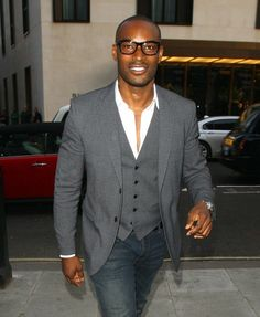 Tyson Beckford (of Chinese, Jamaican, and African American decent) Dapper Gentleman, Gentleman Style, Sharp Dressed Man, Well Dressed Men, Tyson Beckford, Afro, Style Noir, African American Men, Grown Man
