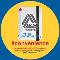#convenience CO-OP is the largest ATM Network. Offering nearly 30,0 surcharge-free ATMs Nationwide!