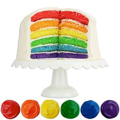 Rainbow Gel Paste Food Coloring Set from www.LayerCakeShop.com