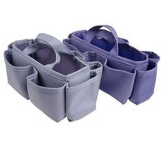 Set of 2 Microfiber Bag Organizers by Lori     Greiner