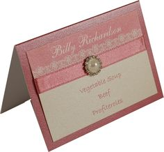 Dusky Pink & Ivory Wedding Table Place Cards. Part of our 'Purlesque' range of Wedding Stationery & Accessories. www.personal-e-yours.co.uk