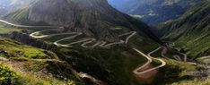 Gotthard Pass in the Alps - this is the old winding road between Italy and Switzerland; photo by Mikael Miettinen Big Sur California, Beautiful Roads, Most Beautiful Cities, Beautiful Streets, Places In Europe, Places To See, European Road Trip, Alpe D Huez, Dangerous Roads