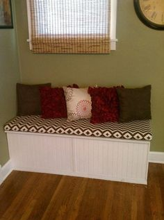 Addison Storage Bench With Cushions From Crate U0026 Barrel, $399. Bench Seat  Lifts Up On Each Side Under The Cushions. | For The Home | Pinterest |  Storage ...