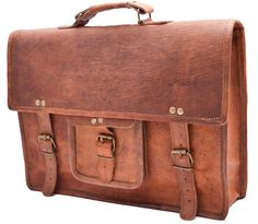 Large Mens Genuine Vintage Brown Leather Messenger Bag Shoulder Laptop  Briefcase 877a8020ec8e2