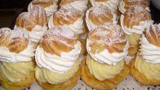 Veterníky so šľahačkou Small Desserts, Sweet Desserts, Sweet Recipes, Slovak Recipes, Czech Recipes, Yummy Treats, Yummy Food, Pavlova, Sweet And Salty