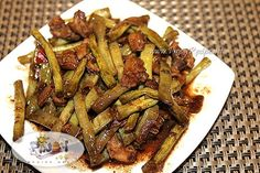 Pinoy Recipe: Great for lunch, ADOBONG SITAW! please share... #filipinofood #delicious #FilipinoRecipes http://www.pinoyrecipe.net/adobong-sitaw-string-bean-adobo-recipe/