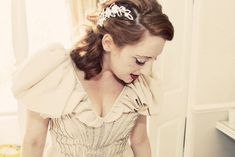 An original vintage 1930s wedding dress.  Photography by http://www.cottoncandyweddings.co.uk/