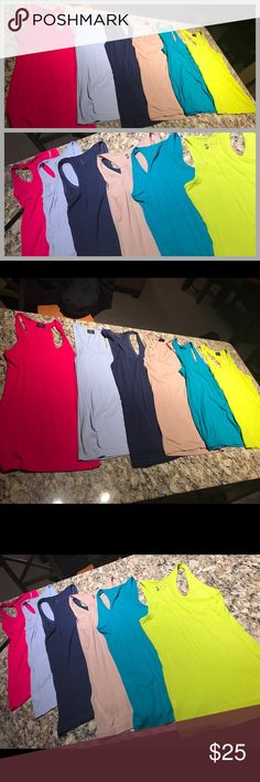 SPLITS59 ASHBY RIBBED LONG TANK TOP MEDIUM U PICK ALL LIKE NEW SPLITS59 ASHBY RIBBED TANKS PRICE PER TANK- ALL SIZE MEDIUM- HAVE THE FOLLOWING COLORS AVAILABLE- FRUIT PUNCH, NAVY, LIGHT BLUE, KHAKI, NEON LIME OR TURQUOISE GREEN- PRICE FIRM NO TRADES NO FLAWS AND GUARANTEED AUTHENTIC Splits59 Tops Tank Tops