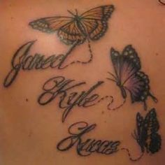 butterfly tattoo with 3 names - Yahoo Search Results Yahoo Image Search Results