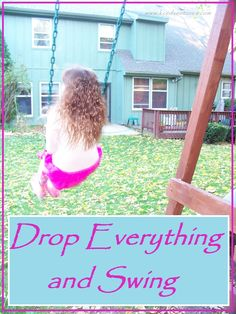 How one parent finds a special way to give her child their full attention when needed in our busy schedules.  Drop Everything and Swing: by Edventures with Kids guest post on Snapshot of Parenting with Purpose on The Educators' Spin On It