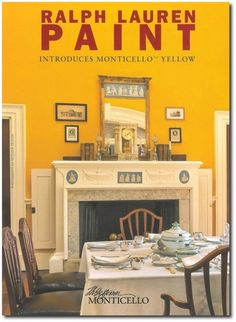 Monticello - Thomas Jefferson's Home re-painted by Ralph Lauren English Interiors, Regency Decorating, Regency Furniture, Yellow Historical Interiors, Yellow Paint Colors, Yellow Rooms