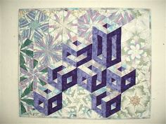 3D blocks quilt wallhanging - Media - Quilting Daily