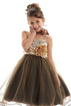Flower Girl Dresses   CD106LE   Cute Leopard-Print Sequined Bodice Girl  Dress w  Wired Mesh Skirt Girl Dress 9ec1f365d