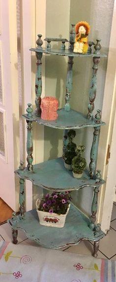 Mavi Ell Boyama Vintage Çiçeklik - Dekopasaj.Com - dekopasaj.com