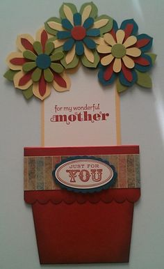 Inside of the Flower Pot Card