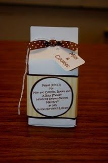 milk & cookies baby shower invitation - diy