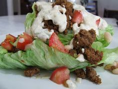 "Wedge Taco Salad And Taco Seasoning {gluten free} use SCD legal ""sour cream"" or yogurt"